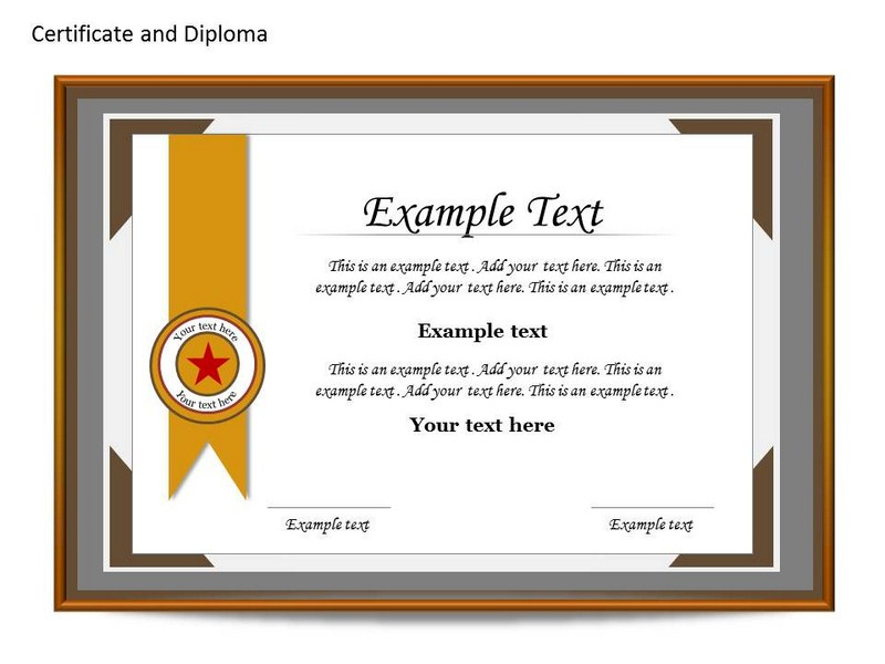 Certificate Template Powerpoint Free | The Highest Quality in Fresh Powerpoint Certificate Templates Free Download