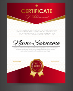 Certificate Template Size (8) | Professional Templates for Certificate Template Size