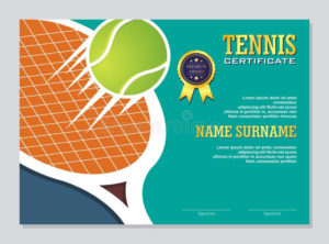 Certificate Template Stock Vector. Illustration Of intended for Table Tennis Certificate Templates Free 10 Designs
