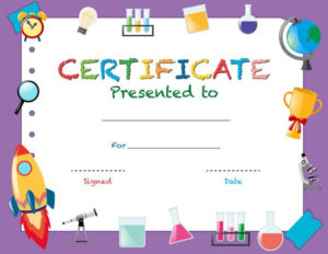 Certificate Template With School Objects – Download Free throughout Certificate Templates For School