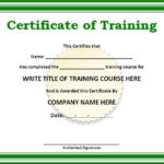 Certificate Templates | Free Word Templates | Certificate Of in Quality Training Certificate Template Word Format