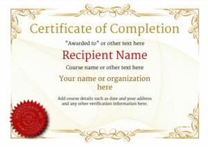 Certificate Templates inside Completion Certificate Editable