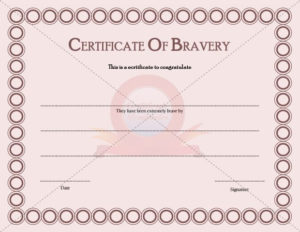 Certificate Templates – Page 2 Of 30 – Choose From Hundreds pertaining to Bravery Certificate Templates