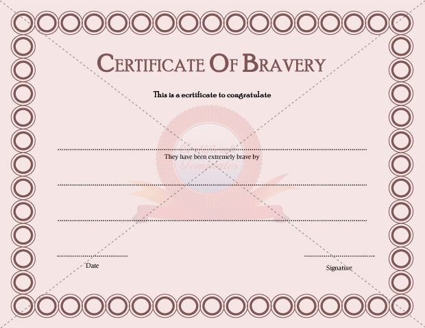 Certificate Templates - Page 2 Of 30 - Choose From Hundreds pertaining to Bravery Certificate Templates