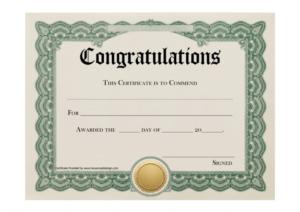 Certificate Templates Stunning Certificate And Award in Congratulations Certificate Template 10 Awards