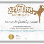 Certificate To Confirm Graduating From Thai Boxing (Muay Thai). 64567427 For Unique Boxing Certificate Template