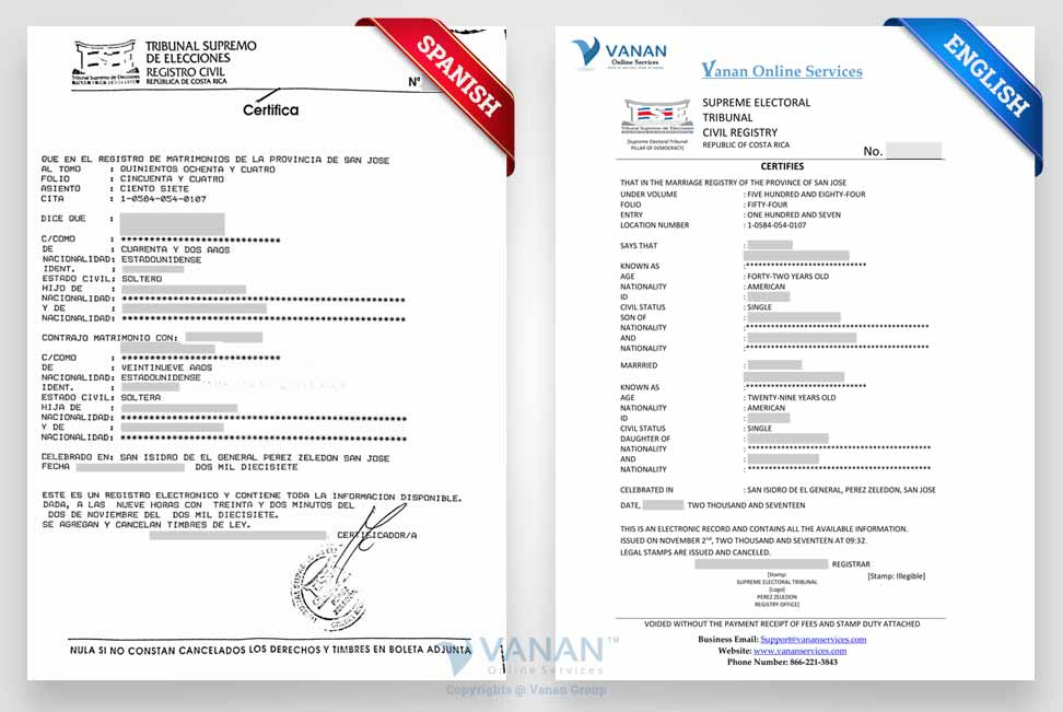 Certificate Translation Services - Uscis Certified Translation within Spanish To English Birth Certificate Translation Template