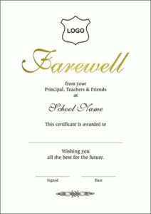 Certificates :: A4 Size :: Farewell A4 Within Farewell within Farewell Certificate Template