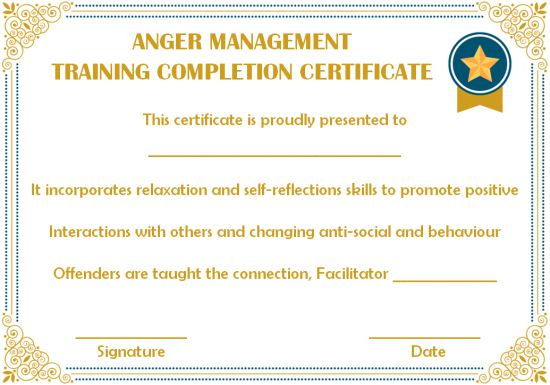 Certificates Archives - Page 74 Of 122 - Template Sumo regarding Anger Management Certificate Template Free