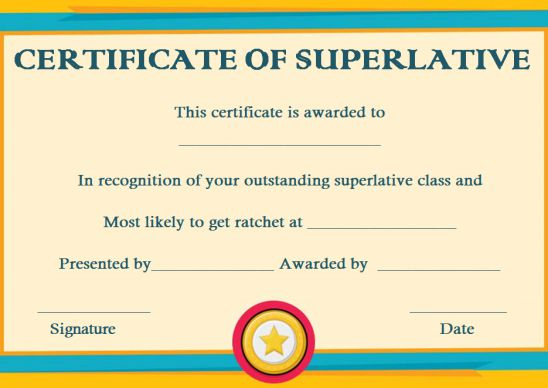 Certificates Archives - Page 8 Of 122 - Template Sumo with regard to Superlative Certificate Template