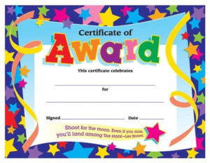 Certificates For All Ages, Certificate Of Award, T2951 throughout Certificate Of Achievement Template For Kids