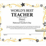 Certificates For Teachers: The World'S Best Teacher Award pertaining to New Best Teacher Certificate Templates Free