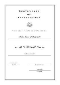 Certificates Of Appreciation 102 with regard to Best Formal Certificate Of Appreciation Template