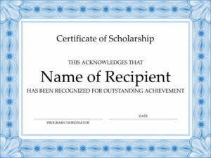 Certificates – Office inside Quality Scholarship Certificate Template Word