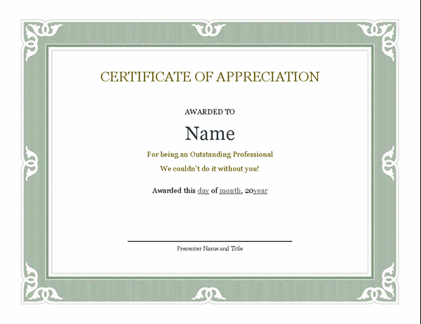 Certificates - Office intended for New Certificate Of Recognition Template Word