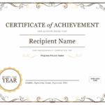Certificates – Office Regarding Unique Recognition Of Service Certificate Template