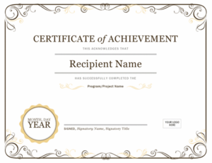Certificates – Office with Unique Recognition Certificate Editable