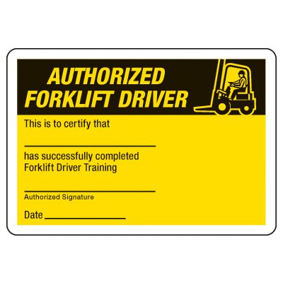 Certification Photo Wallet Cards - Authorized Forklift Driver Pertaining To Forklift Certification Card Template