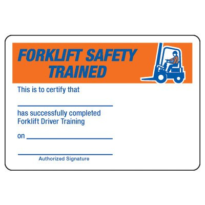 Certification Photo Wallet Cards - Forklift Safety Trained for Best Forklift Certification Card Template