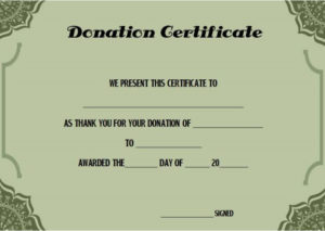 Charitable Donation Certificate Template | Donation Letter throughout Quality Donation Certificate Template