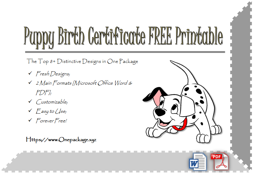 Check And Save The 8+ Distinctive Template Ideas Of Puppy regarding Unique Puppy Birth Certificate Free Printable 8 Ideas