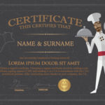 Chef Certificate Template Vector Free Download With Chef Certificate Template Free Download 2020
