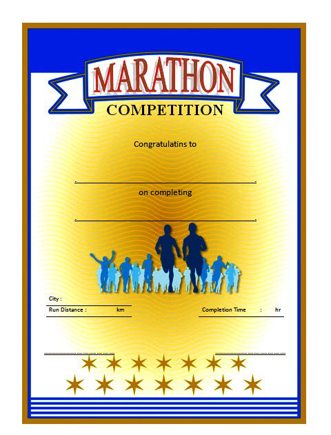 Chicago Marathon Finisher Certificate Free Printable 1 within Unique Finisher Certificate Template 7 Completion Ideas