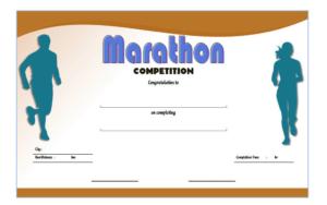 Chicago Marathon Finisher Certificate Free Printable 2 within Quality Finisher Certificate Template