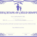 Child Adoption Certificate Template (8) – Templates Example With Regard To Child Adoption Certificate Template Editable