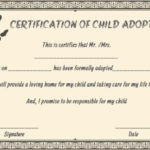 Child Adoption Certificates: 10 Free Printable And Pertaining To Fresh Child Adoption Certificate Template Editable