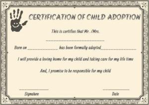 Child Adoption Certificates: 10 Free Printable And pertaining to Fresh Child Adoption Certificate Template Editable