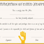 Child Adoption Certificates: 10 Free Printable And With Fresh Child Adoption Certificate Template Editable