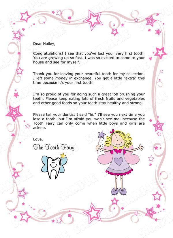 Children'S Personalized Tooth Fairydianesdigitaldesigns regarding Fresh Tooth Fairy Certificate Template Free