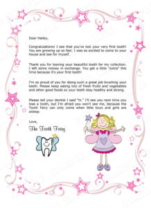 Children'S Personalized Tooth Fairydianesdigitaldesigns With Free Tooth Fairy Certificate Template