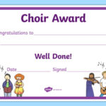 Choir Award Certificate (Teacher Made) With Choir Certificate Template