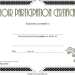 Choir Certificate Of Participation Template Free Printable throughout Free Choir Certificate Templates 2020 Designs