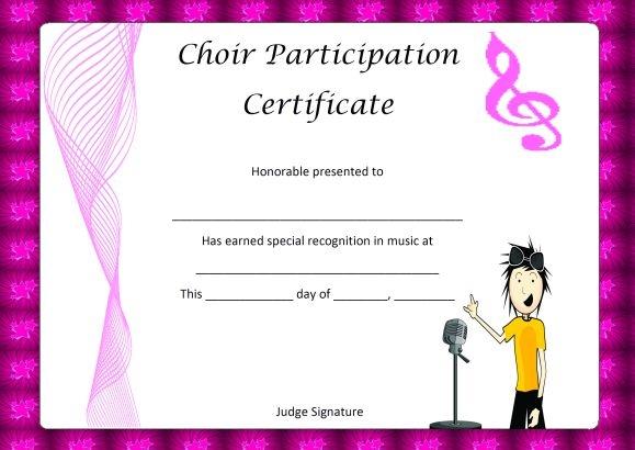 Choir Certificate Template Free 10 - Best Templates Ideas with regard to Best Choir Certificate Template