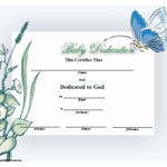 Christian Pastors And Others Can Use This Printable Pertaining To Quality Free Fillable Baby Dedication Certificate Download