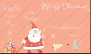 Christmas Gift Certificate Template 13 pertaining to Fresh Merry Christmas Gift Certificate Templates