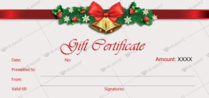 Christmas Gift Certificate Template 36 – Word Layouts within Christmas Gift Templates Free Typable