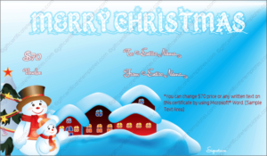 Christmas Gift Certificate Template 5 – Gift Template throughout Quality Christmas Gift Templates Free Typable