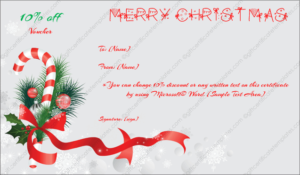 Christmas Gift Certificate Template 6 – Gift Template with regard to Christmas Gift Templates Free Typable