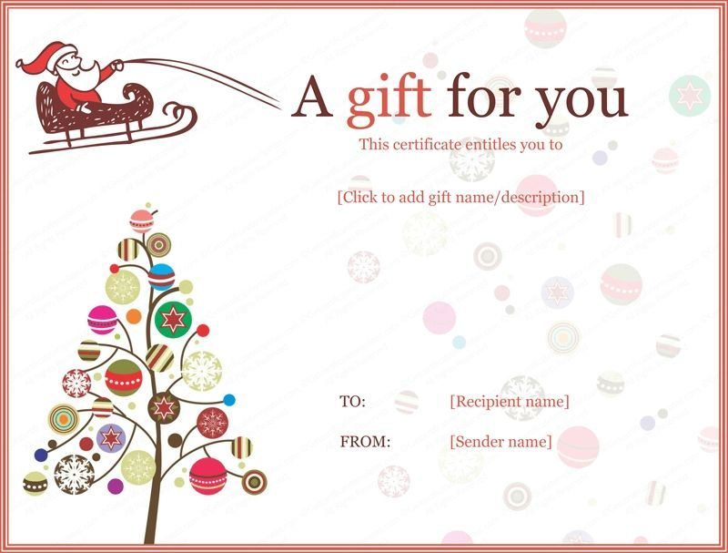 Christmas Gift Certificate Template Free Download (4) - Tem inside Quality Christmas Gift Certificate Template Free Download