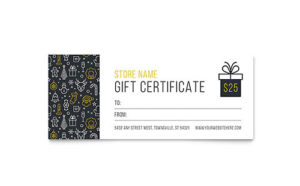 Christmas Wishes Gift Certificate Template Design within Indesign Gift Certificate Template