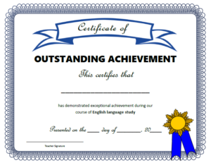 Class Certificates – All Things Grammar in Outstanding Achievement Certificate