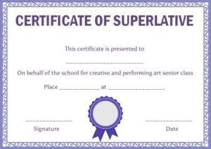 Class Superlative Certificate Template | Certificate in Best Bravery Certificate Template 10 Funny Ideas