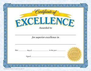 Classic Certificates, Certificate Of Excellence, T11301 with regard to Quality School Promotion Certificate Template 10 New Designs Free
