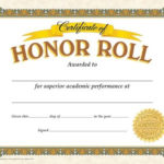 Classic Certificates, Honor Roll, T11307 | Certificate Pertaining To Fresh Honor Award Certificate Templates