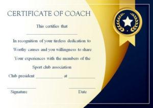 Coach Certificate Of Appreciation: 9 Professional Templates for Best Best Coach Certificate Template