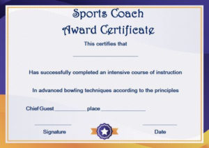 Coach Certificate Of Appreciation: 9 Professional Templates regarding Best Coach Certificate Template